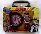 Yu Gi Oh/Yu-Gi-Oh Wrist Watch+Display Yu-Gi-Oh Alarm in Decorated Tin Box-New!