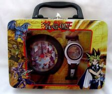 Yu Gi Oh/Yu-Gi-Oh Wrist Watch+Display Yu-Gi-Oh Alarm Clock in Decorated Tin Box
