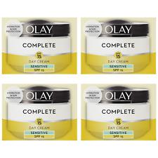 4 Olay 3in1 Day Cream Sensitive Moisturiser Essentials Complete Care Spf15 50ml