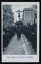839.-SEVILLA -Semana Santa «Paso y penitentes de la Cofradía de los Estudiantes