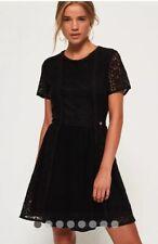 Superdry Ella Lace Panelling Lace Dress Size 8