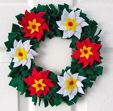Poinsettia Christmas Wreath Felt Kit by Florashell