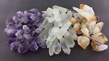 MIXED CRYSTAL 1/2 Lb Lots Natural Amethyst, Citrine, Quartz Crystal Points