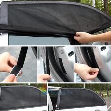 2Pcs Car Window Side Sun Shade Cover Block Static Cling Visor Screen Black #A