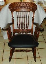 Solid Quartersawn Oak Carved Spindle Rocker / Rocking Chair  (R213)