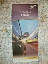 NEVADA & UTAH STATE MAP Travel Street Road Map Tour Roadmap Guide '20 AAA UT NV