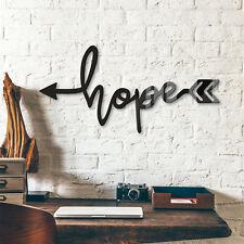 Acrylbuchstaben - Hope arrow DEKOELEMENT Wohnaccessoires Wanddeko schwarz