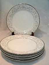 "Vtg Noritake OXFORD Set of 6-10 1/2"" Dinner Plates Fine China #5767 Disc'd EC"