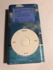 Apple iPod mini 1st Generation Blue 4 GB. M9436LL  With decal