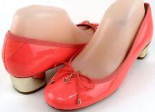 Block Heel Patent Leather Low (3/4 to 1 1/2 in) Heel Height Heels for Women