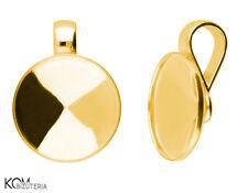 Pendant (bail) for Swarovski 1122 rivoli 14 mm w 123 - gold-plated silver