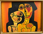 Beautiful Cubist Painting J. Rafael Afro Cubism Expressionist Original Oil