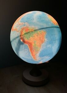 Räth Globus Leuchtglobus 30cm kirschbaumfarbig aufwendig skaliert DP3010 Tes...