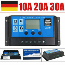 Solarregler 12V 30A 20A 10A LCD Solar Photovoltaik Laderegler Daul USB 12V/24VDC