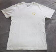 Mens TRUE RELIGION Metallic Gold Logo Buddha Print White T-Shirt Size Large £49