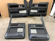 2011 FORD F150 FX4 BLACK DRIVER FRONT AND REAR DOOR PANELS SKIN TRIM COVERS