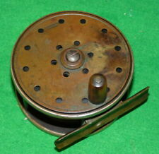 "Carter & Co. of London 3 ¼"" Jardine Patent brass & ebonite fly reel"