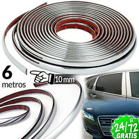 TIRA CROMADA EMBELLECEDOR 10 MM X 6 M PLATA MOLDURA ADHESIVA STRIP TRIM CHROME