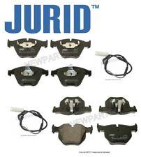 For BMW 335d 335i 2007-2011 Front & Rear Disc Brake Pad Set & Sensors Jurid