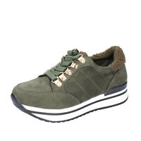 Chaussures Femme FRANCESCO MILANO 37 Ue Baskets Vert en Daim Sintetique BK388-37