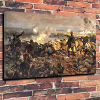 """Second Battle of Ypres Wall Art  Printed Canvas Picture A1.30""""x20"""" 30mm Deep WWI"""