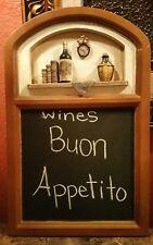 "Restaurant Dinner Wine 3D Wall Chalkboard Sign Board Message 17 1/4 x 11"""