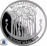 Deutschland 20 Euro Rotkäppchen 2016 Spiegelglanz Münze Gebrüder Grimm im Folder