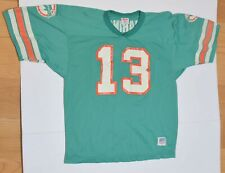 Vintage Wilson Dan Marino 13 Jersey Miami Dolphins Green S/S Size Youth Xl