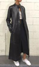DONNA KARAN lambskin black leather coat size 10
