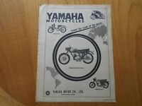 Vintage Yamaha Motorcycles Advert -- Original -- from 1961