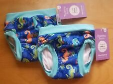 2 NEW Small 22-28 lbs BLUEBERRY PottyTraining Pants SEAHORSES Toddler Underwear
