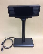CD-7220-UN USB VFD Customer Display Pole for EPOS - UK Black NEW