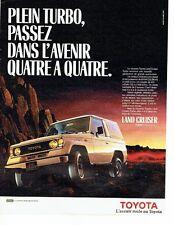 PUBLICITE ADVERTISING 037  1986  Toyota  la land Cruiser  Turbo