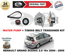 FOR RENAULT GRAND SCENIC 2.0 16v 2004-> WATER PUMP + TIMING BELT TENSIONER KIT