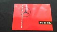 1959 Orig. Mercedes Benz 190SL Pagode Prospekt Brochure