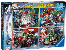 The Avengers 4x 100 Piece Jigsaw Puzzle Bumper Pack