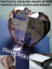 New Large Swarovski 509537 Crystal Love Heart Paperweight/Decoration