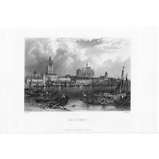 Antiguo de impresión de 1885-Colonia, Alemania