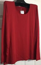 Brand New J Jill women size Large Red Pima Cotton Scoop neck Knit top