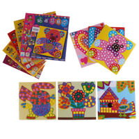 6 Pcs/set Kids Puzzle Stickers Toys Craft EVA Mosaic Art Educational toy.