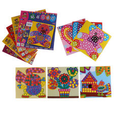 6 Pcs/set Kids Puzzle Stickers Toys Craft EVA Mosaic Art Educational toyH&T