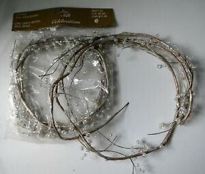 2 Iridescent Clear Pip Berry Berries Silver Gold Garland 6' Silver Modern Xmas