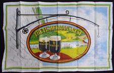 Vintage 1960's Breweriana Guinness Advertising Unused Tea Towel Fisherman's Rest