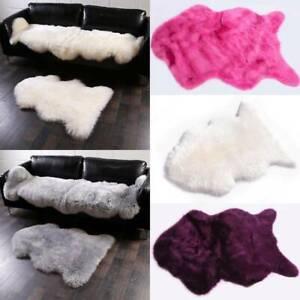 Soft Fluffy Faux Fur Sheepskin Rug Hairy Skin-friendly Sofa Cover Mat Cushion US