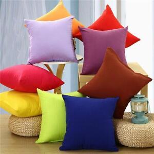 """Solid Colors Plain Design Decor Home Pillow Case Cushion Cover Square 17/""""//44cm B"""