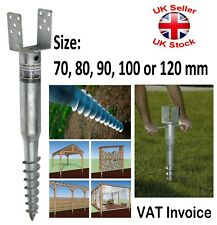 FENCE POST Spike Support GROUND SCREW Holder Anchor Square 70/80/90/100/120 mm