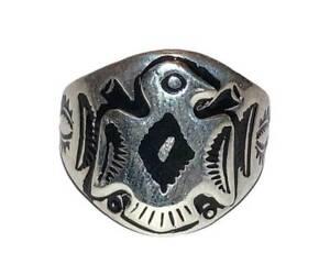 Sterling Tribal Inspired Thunderbird Ring Band Alberto Juan