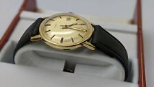 NEW From OLD STOCK Timex big size Men's Manual Wind Date Watch Leather Band