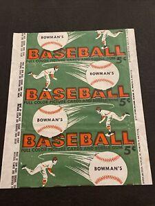 SHARP 1954 BOWMAN BASEBALL WAX 5 CENT WRAPPER~FREE SHIPPING SCARCE