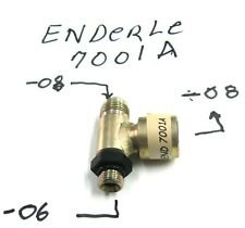 Enderle 7001a pump bypass tee fitting -06 an to -08 an